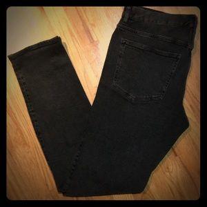 Zara men's distressed black jeans - work once
